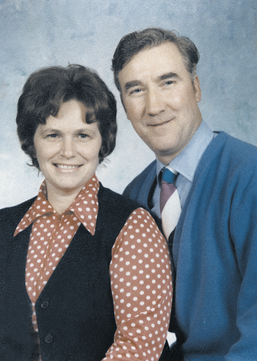 <em>Michael McFadden and his wife Mary.</em>
