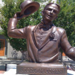 Robert Shure's bust of George M. Cohan in Providence, RI. Courtesy of Sy Dill.