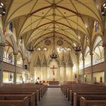 The rennovated interior of St. Brigid's Church in Manhattan's East Village. Photo: Google Images.