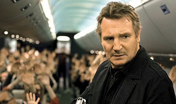 Liam Neeson's latest action turn, as an air marshal in Non-Stop.