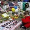 A Boston Strong memorial to the victims of the marathon bombings. The Hartford Courant.
