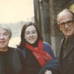 Mary Lavin with her youngest daughter, Caroline, and her second husband, Michael Scott. Courtesy of the Ryan family.