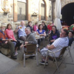 Done for the day, the MS Ireland group takes a break. Photo: Honora Harty.