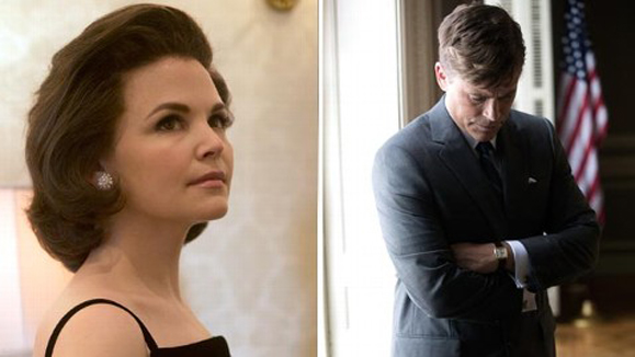 Ginnifer Goodwin as Jackie O and Robert Lowe as JFK in the upcoming National Geographic adaptation of Bill O'Reilly's Killing Kennedy.