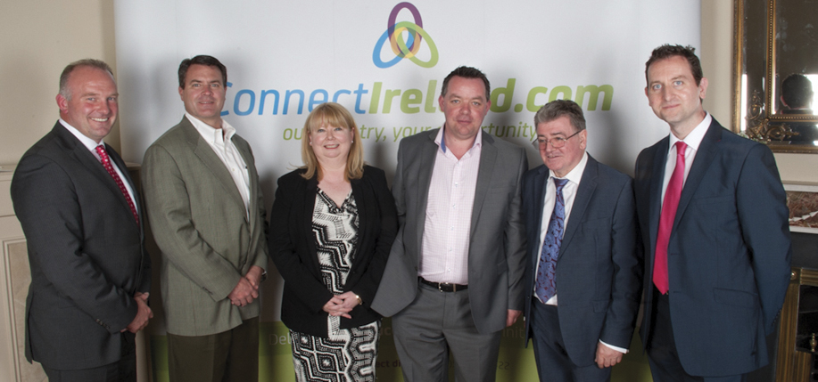 Michael McLoughlin CEO ConnectIreland, Mathew Gilfillan of Mafic, Bernadette Brannigan of Mafic, Hugh Morris who made the connection with Mafic that brought 70 jobs to Kells, Brian Dougan, managing director Mafic, and Terry Clune, founder of ConnectIreland.