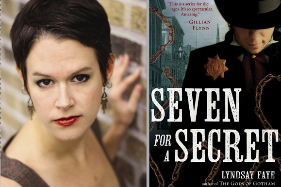 Lyndsay Faye and her latest book Seven for a Secret.