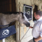 Michael Dilger with horse Wired Brian. Photo: Liz O'Connell.