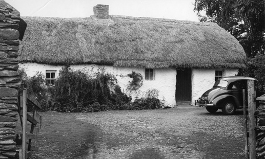 Thatched house, Brewel Hill, Co. Kildare. Image: Irish Architectural Archive.