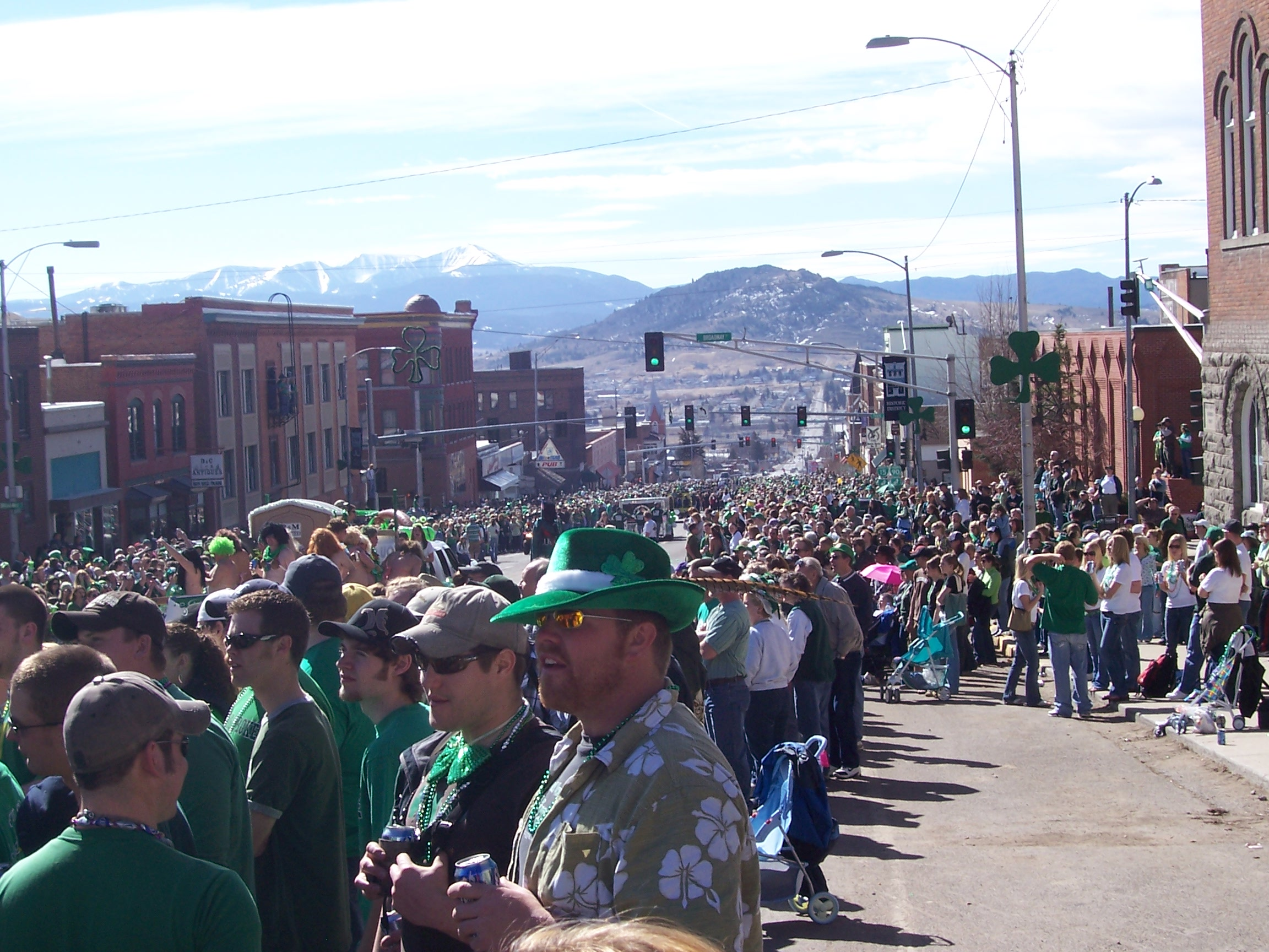 Buds and Buds at the 2007 Butte St. Patrick's Day Parade.