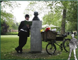 In Dublin, readings of Ulysses take place throughout the city. Bloomsday 2014. (Photo: Dublin City Hotels)
