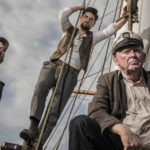 On the Dunbrody: Irish actors Ronan Barry, Stephen Byrne and Eugene McLoughlin, who featured in a production of the Glencairn one-act plays on board the ship.