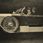 Oliver St. John Gogarty, pictured driving one of his many cars.