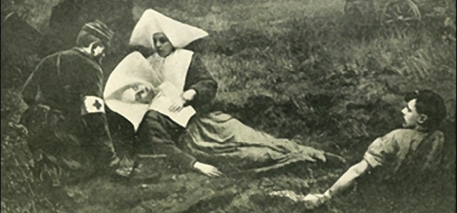 The death of a Sister of Charity on the battlefield.