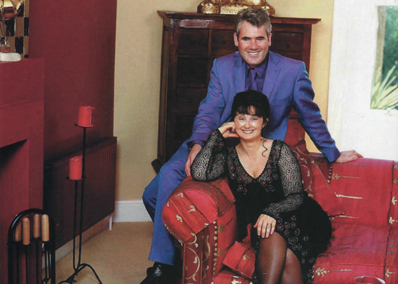 Marian Keyes and her husband Tony Baines at home in Dublin.