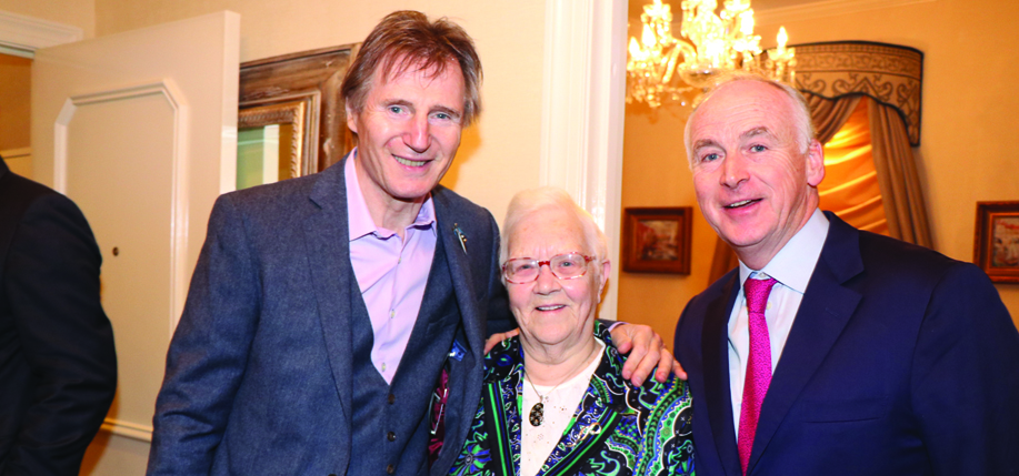 Liam Neeson, May Blood, and John Fitzpatrick.