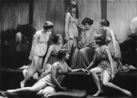 Isadora with her dancers, The Isadorables.