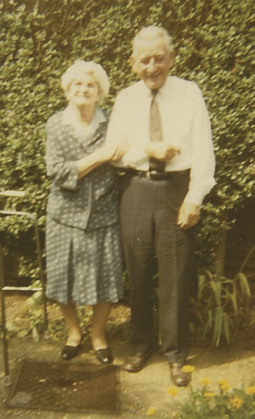 <em>Patrick and his sister, Mary McAllister, meet up in England after 57 years, 1970.</em>