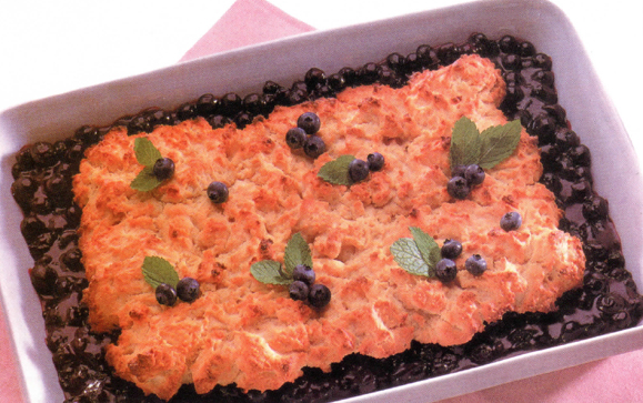 Blueberry Cobbler is an excellent dish to help celebrate the fertility of Summer. Pictured above is Traditional Top Crust Cobbler.