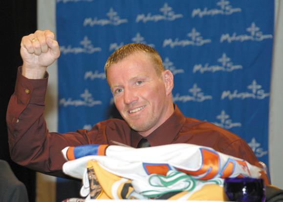 Micky Ward at his retirement party.