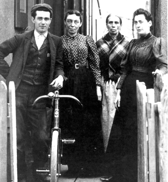 Philadelphia - Mary Logue Campbelll Magee and her children in 1895.
