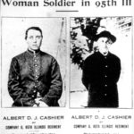 Photographs of Albert D.J. Cashier taken in 1864 (left) and in 1913 (right) from They Fought Like Demons: Women soldiers in the American Civil War.