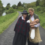 Christine Kinealy and Caroilin Callery on the walk from Roscommon to Dublin in memory of the exiles of 1847.