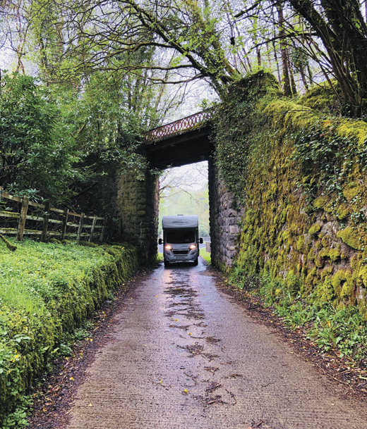 The Celtic Camper van had some tight squeezes on the back roads. This one was near Lough Derg in Donegal.
