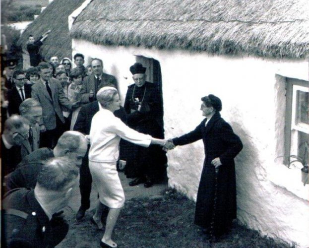 Grace Kelly visits her ancestral home in County Mayo.